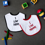 I love Mommy & Daddy Bibs - Set of 2