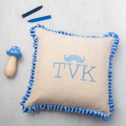 Small Baby Boy Pillows Monogram