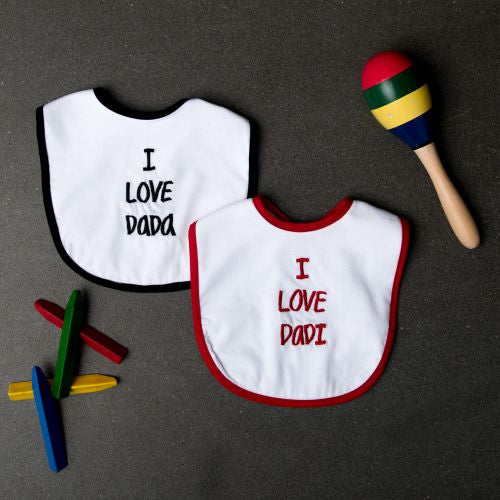 I love Dada & Dadi Bibs - Set of 2