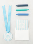 Kids Stationery + Luggage Tags Monogram (Boy)