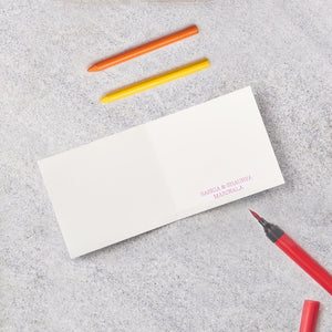 Pink Geo kids Stationery - Small Giftcards