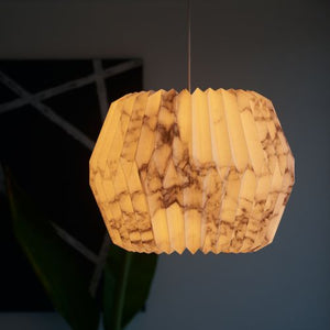 Marbled Lamp - Round
