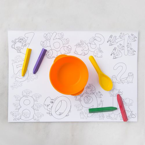 Monogrammed Kids Colouring Table Mats