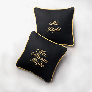 Mr & Mrs Right Cushion - Set of 2