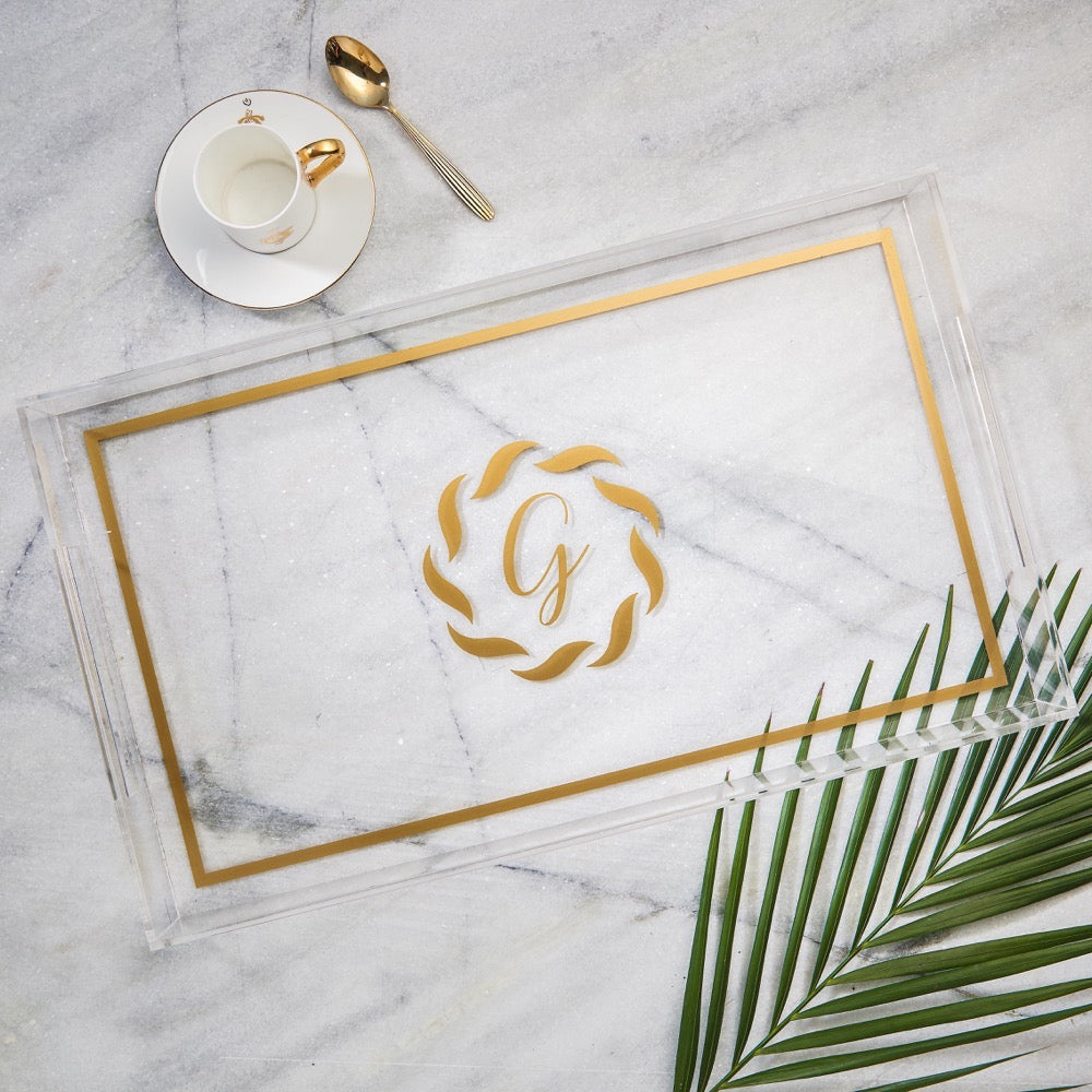 Large Tray Monogram