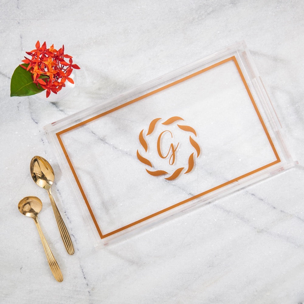 Small Tray Monogram
