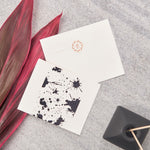 Splatter Big Notecards - Black