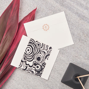 Agate Big Notecards - Black