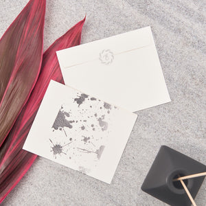 Splatter Big Notecards - Silver