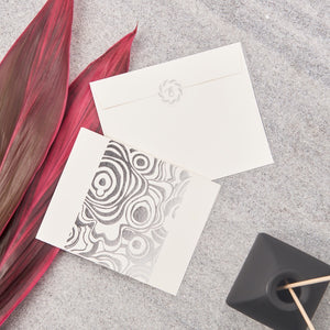 Agate Big Notecards - Silver