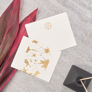 Splatter Big Notecards - Gold