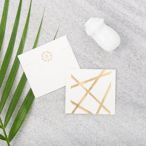 Random Lines Gift Notecards - Gold