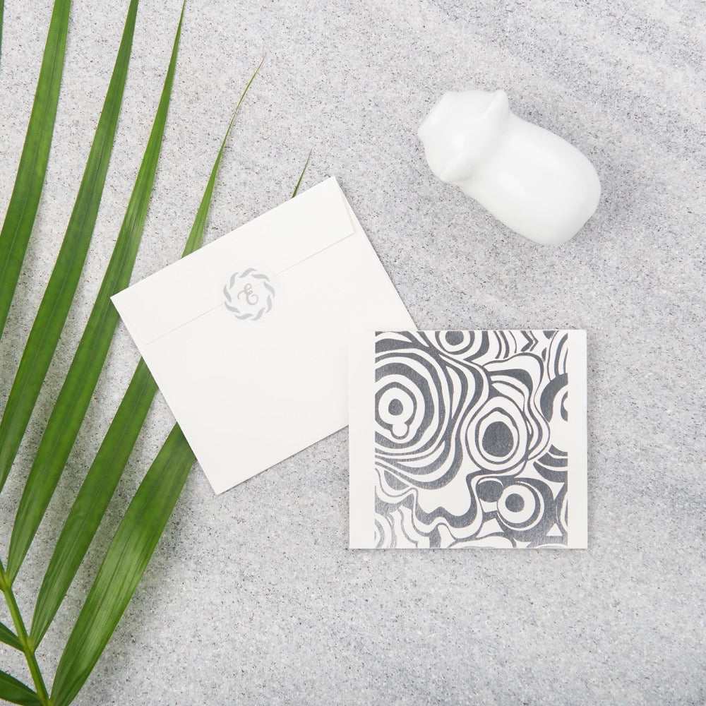 Agate Gift Notecards - Silver