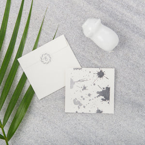 Splatter Gift Notecards - Silver