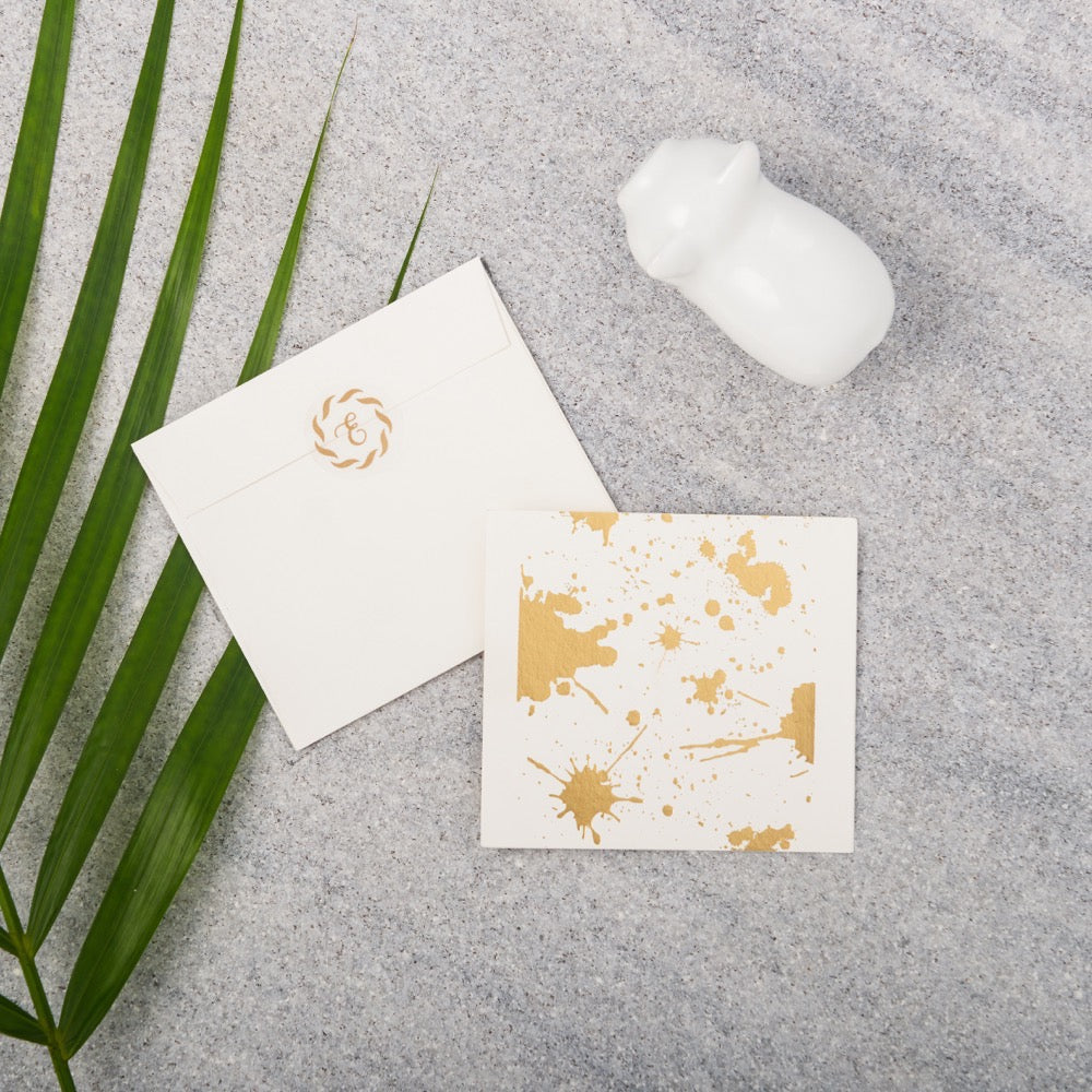 Splatter Gift Notecards - Gold