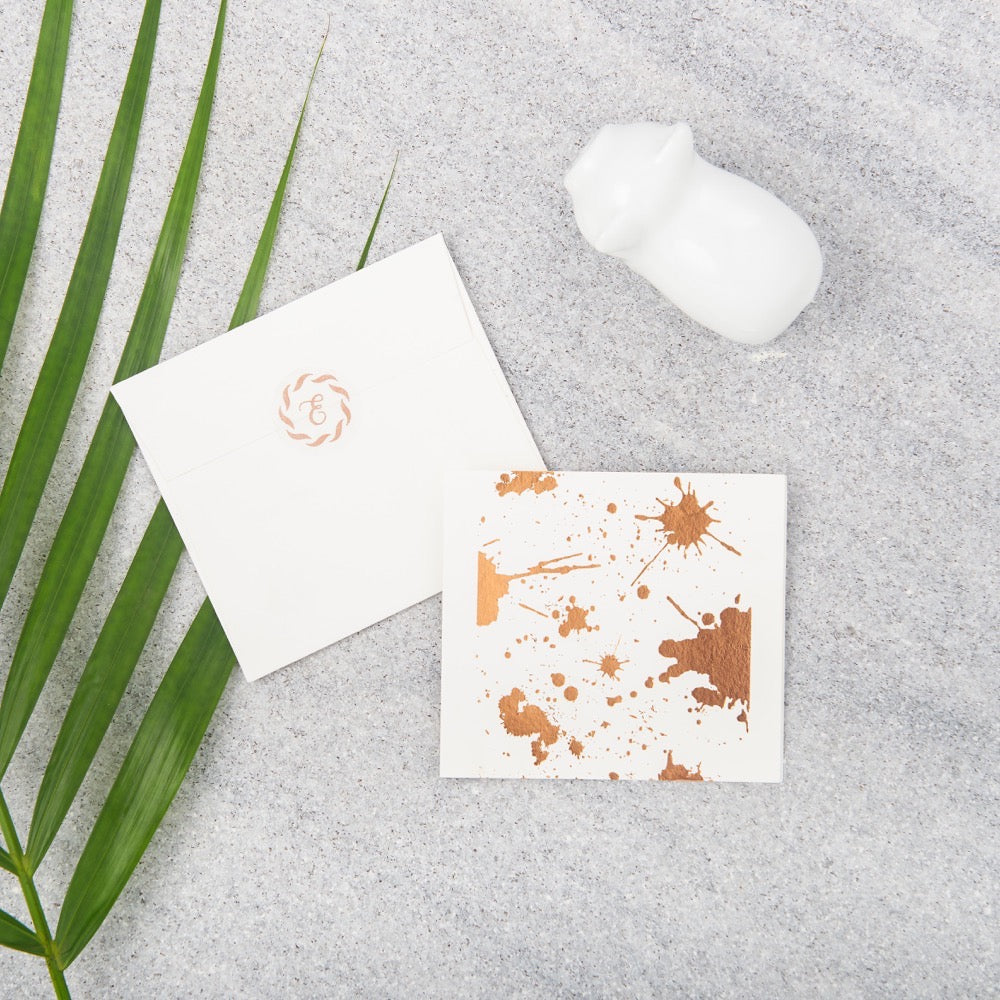 Splatter Gift Notecards - Copper