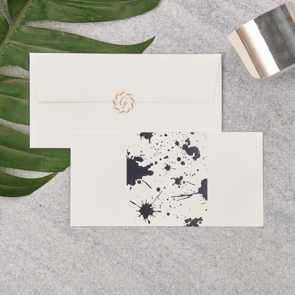 Splatter Money Envelopes - Black