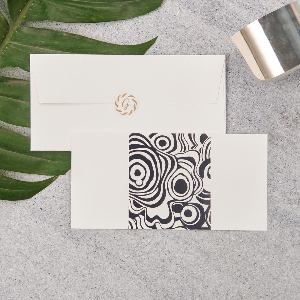 Agate Money Envelopes - Black