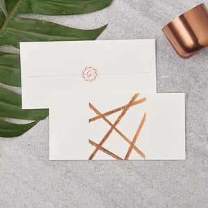 Random Lines Money Envelopes - Copper