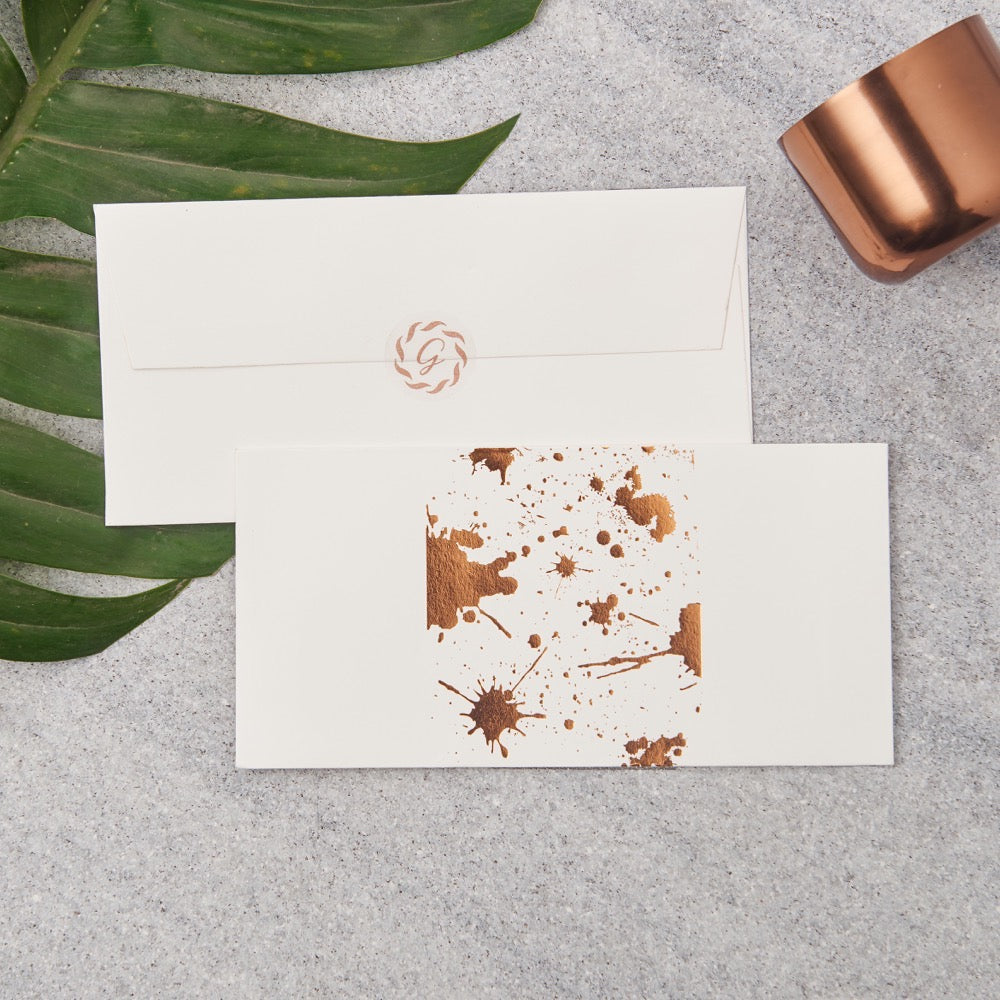 Splatter Money Envelopes - Copper