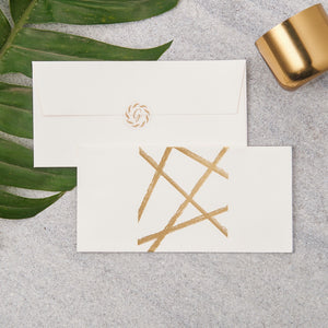 Random Lines Money Envelopes - Gold