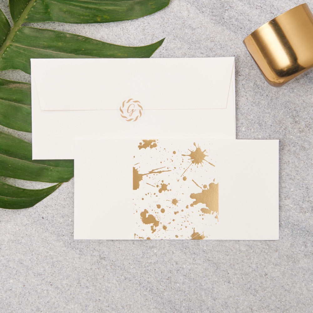 Splatter Money Envelopes - Gold