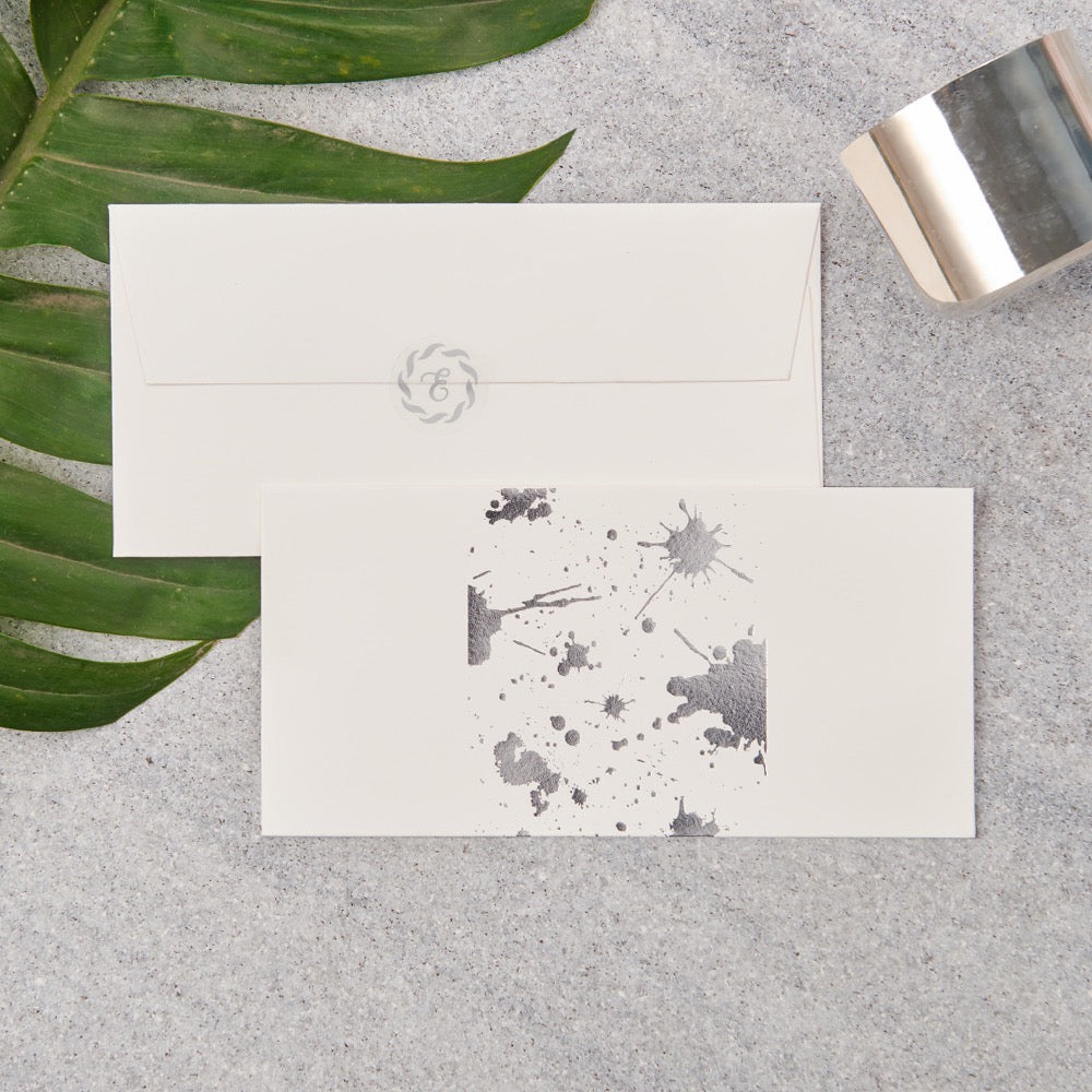 Splatter Money Envelopes - Silver