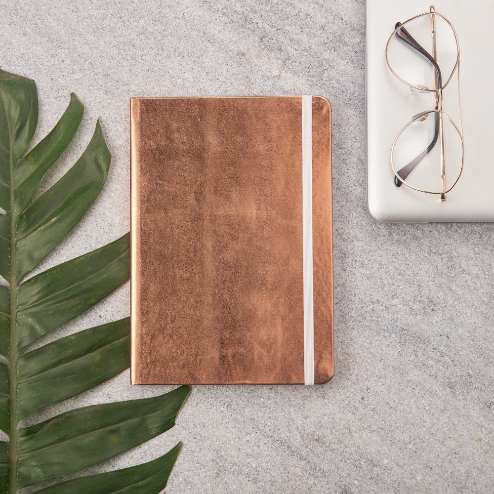 Metallic Big Notebooks Copper