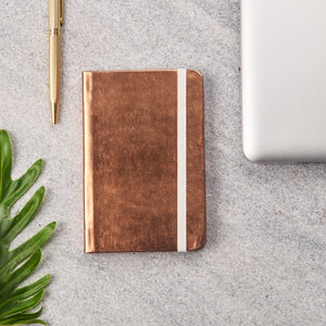 Metallic Small Notebooks Copper