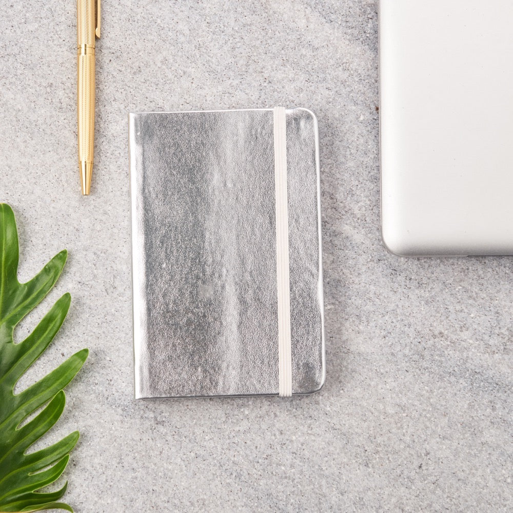 Metallic Small Notebooks Silver