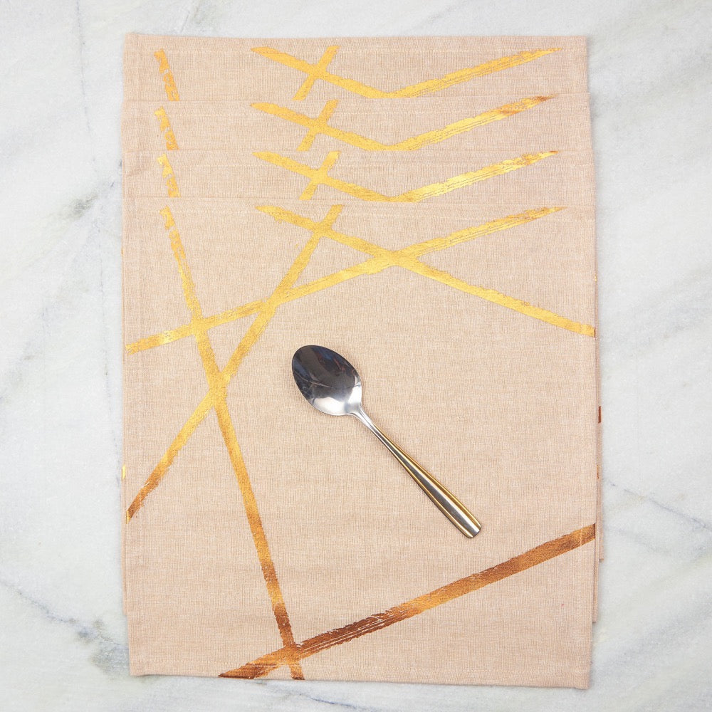 Copper Random Lines Table Napkins