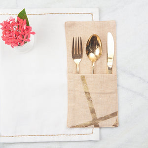 Gold Cutlery Pockets