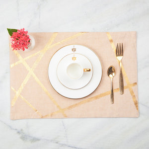 Gold Random Lines Table Mats