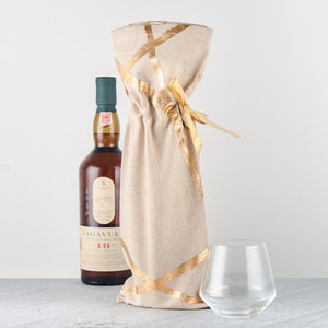 Gold Random Line Wine Bottle bag - Set of 2