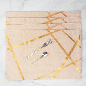 Copper Random Lines Table Mats