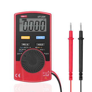 UNI-T UT120A Handheld Mini Digital Multimeter DC/AC Voltage / Resistance / Frequency / Duty / Diodes Meter Tester