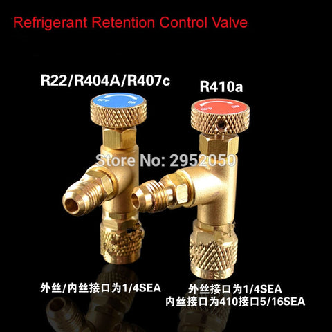 High Quality R410A R22 R407C refrigerant tool retention control valve,Air conditioning charging valve