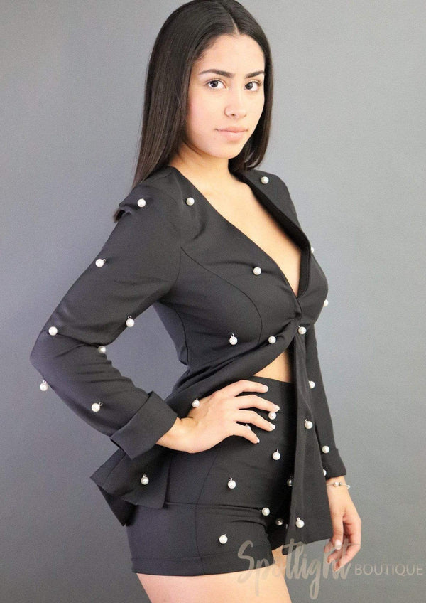 Boss Shorts and Blazer Set-Sets-Spotlight Boutique