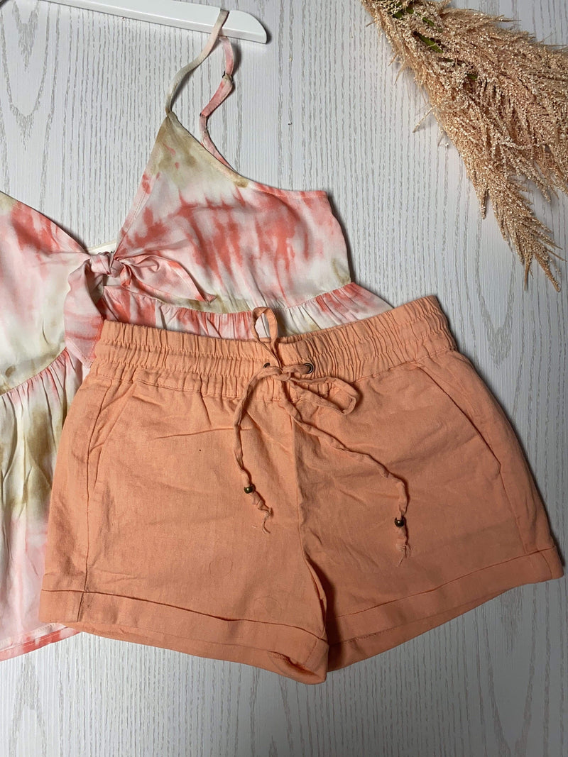 California Peach Shorts-Shorts-Spotlight Boutique