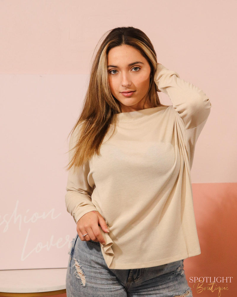 Dreaming Long Sleeve Top-Tops-Spotlight Boutique