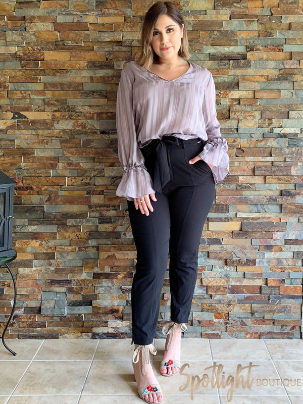 Not Quite Grey Long Sleeve Top-Tops-Spotlight Boutique