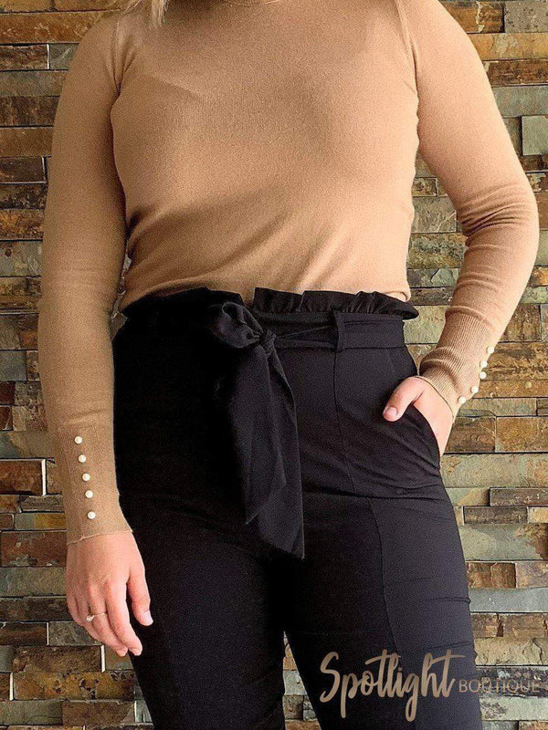 Pearl Long Sleeve Top-Tops-Spotlight Boutique