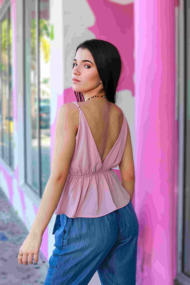 Pretty in Pink Spaghetti Strap Top-Tops-Spotlight Boutique