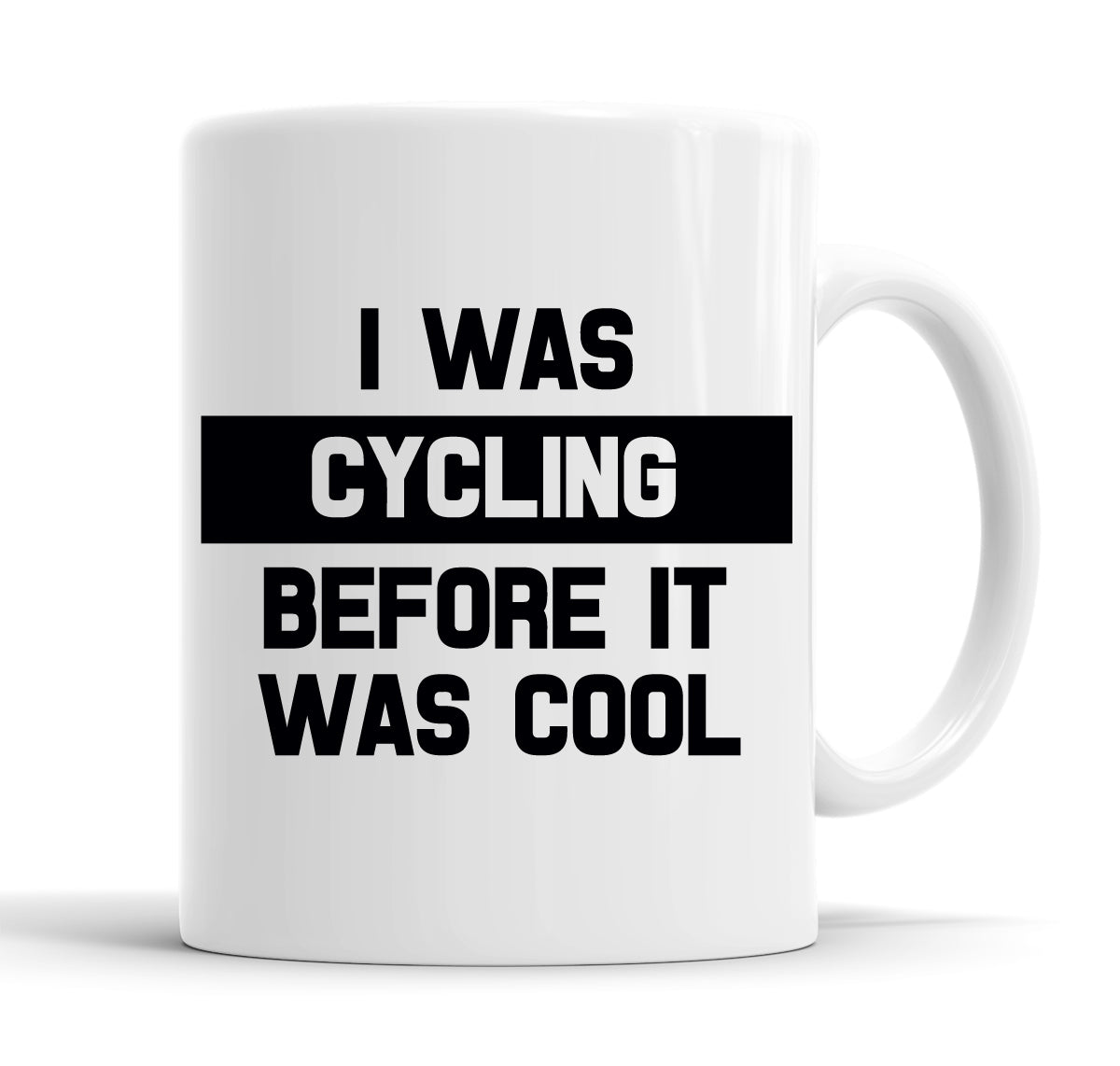 I Was Cycling Before It Was Cool Funny  Office Coffee Mug Tea Cup