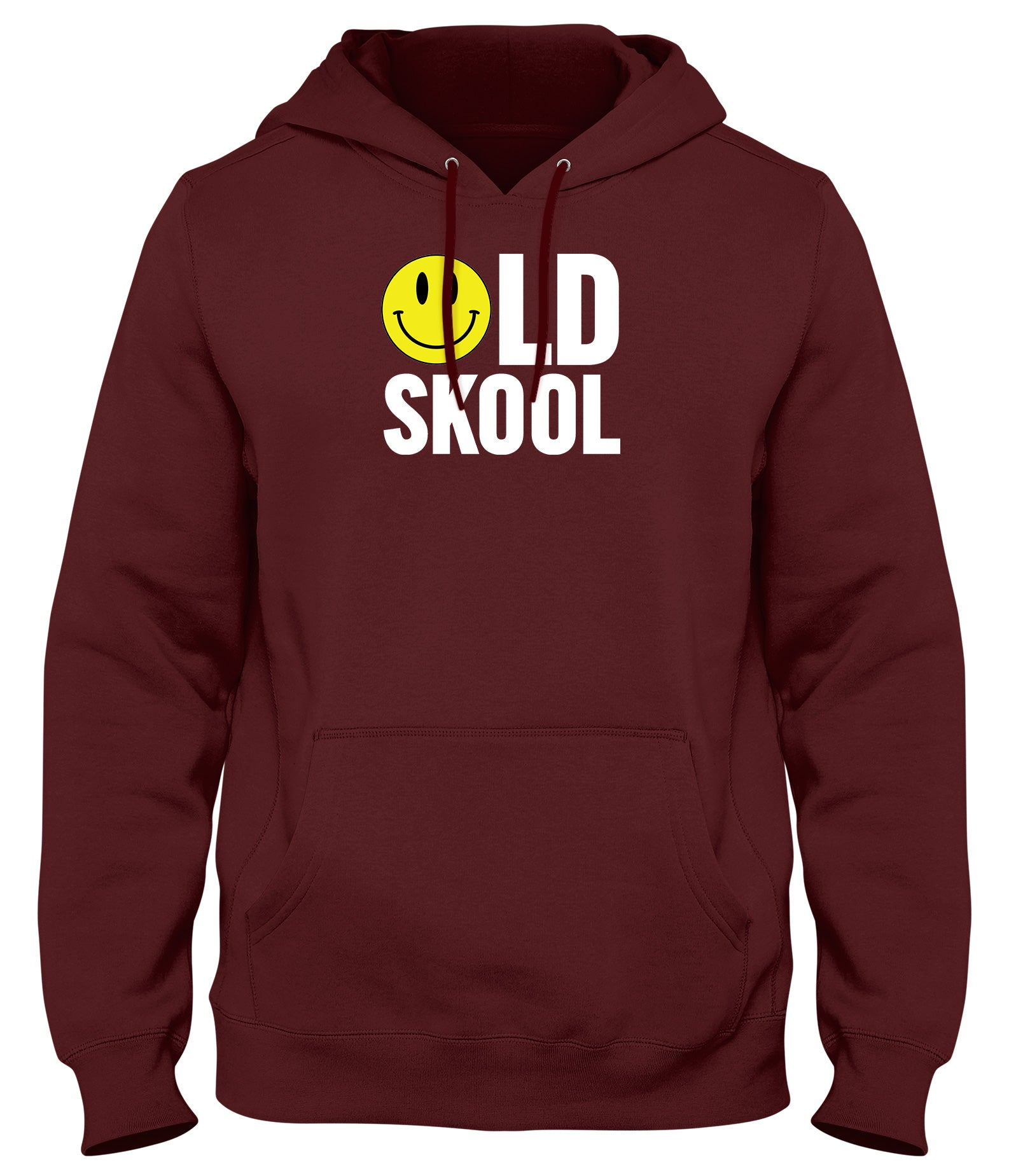 OLD SKOOL SMILEY MENS WOMENS LADIES UNISEX FUNNY SLOGAN HOODIE