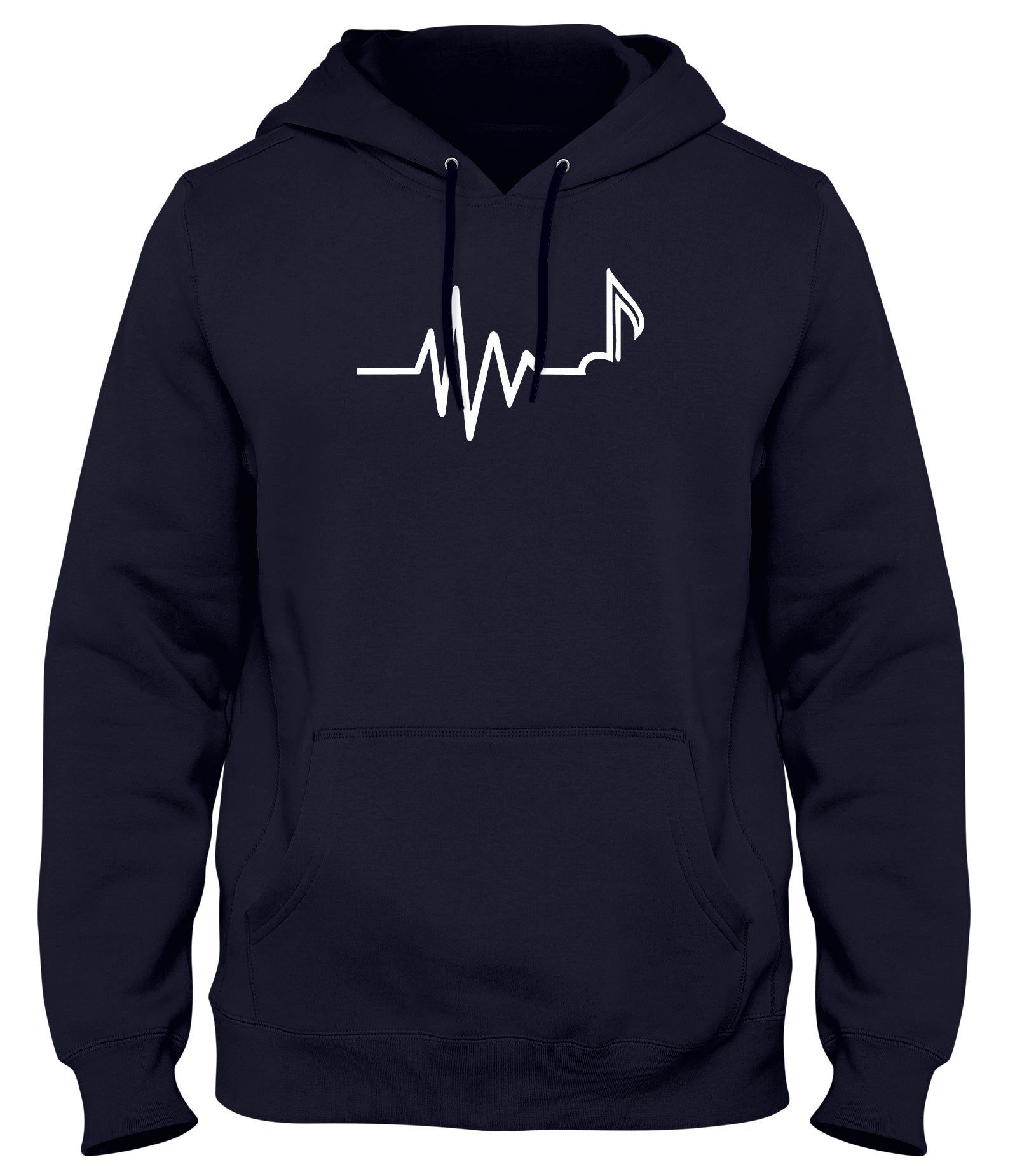MUSIC HEARTBEAT MENS WOMENS LADIES UNISEX FUNNY SLOGAN HOODIE
