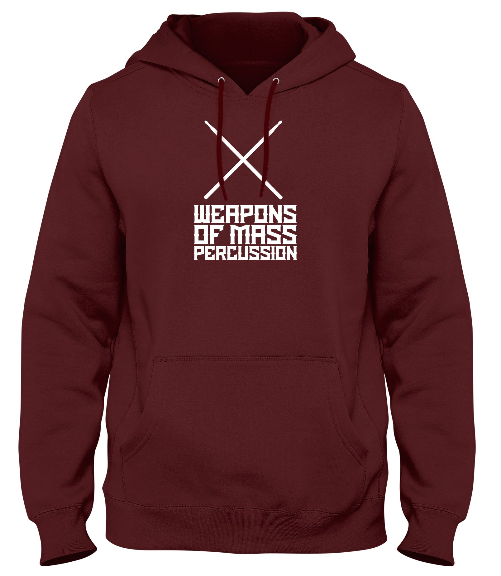 WEAPONS OF MASS PERCUSSION MENS WOMENS LADIES UNISEX FUNNY SLOGAN HOODIE