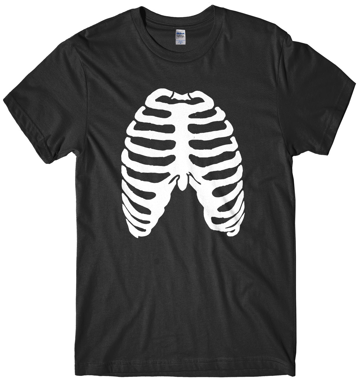 Skeleton Ribs Ribcage Design Mens Unisex Halloween T-Shirt