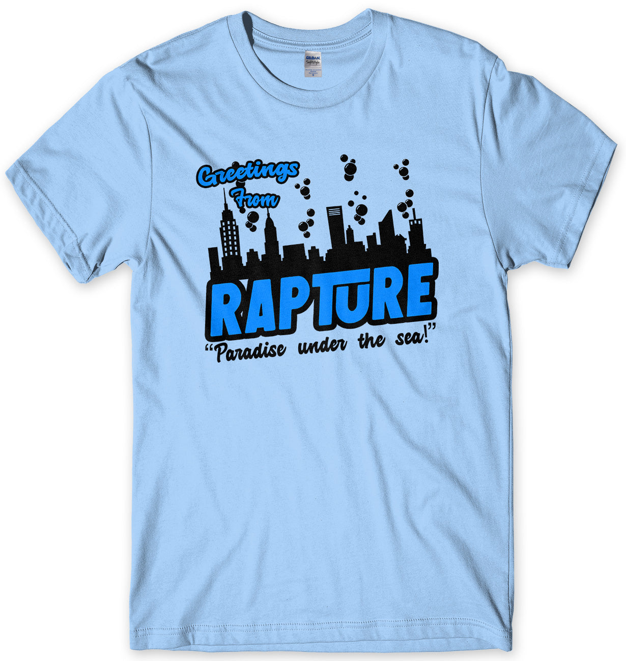 GREETINGS FROM RAPTURE MENS UNISEX T-SHIRT