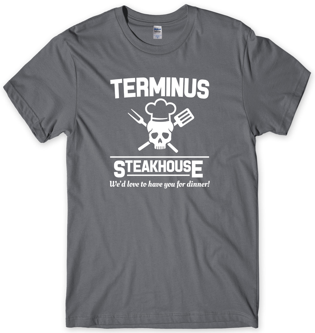 TERMINUS STEAKHOUSE MENS FUNNY UNISEX T-SHIRT